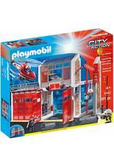 Playmobil Caserne de Pompiers avec Son 9462