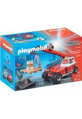 Playmobil Pompiers Véhicule Élévateur 9465