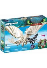 Playmobil Como Treinares O Teu Dragão Fúria da Luz com Dragão Bebê e Crianças 70038