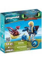 Playmobil Cómo Entrenar a Tu Dragón Astrid con Globoglob 70041