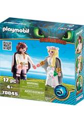 Playmobil Dragons Astrid e Hiccup 70045