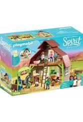 Playmobil Spirit Riding Free Fienile con Lucky, Pru e Abigail 70118