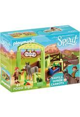 Playmobil Spirit Riding Free Stalla con Snips e Señor Carota 70120