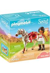 Playmobil Solana con Caballo 70123