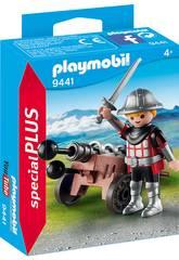 Playmobil Chevalier avec Canon 9441