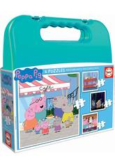 Maleta Puzzles Progresivos Peppa Pig 6-9-12-16 Educa 18112