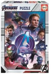 Puzzle 100 Avengers (Vingadores) Endgame Educa 18097