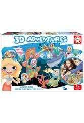 3D Aventures Meerjungfrauen Baue Auf Und Spiele Educa 18230