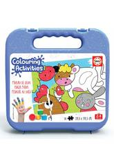 Mala Colouring Activities Puzzle 20 Animais Da Granja Educa 18209