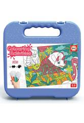 Colouring Activities Puzzle 50 Dinosauri Educa 18069