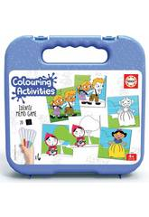 Mallette Colouring Activities Identic Memo Game Contes Educa 18211