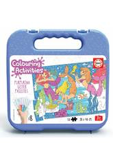 Colouring Activities Puzzle 50 Sirenas Educa 18067