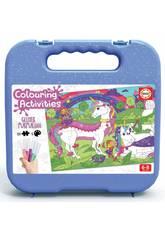 Maletinha Colouring Activities Puzzle 100 Unicórnio Educa 18066