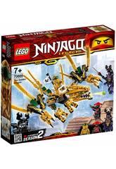Lego Ninjago Dragon Doré 70666