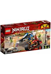 Lego Ninjago Moto Acuchilladora de Kai y Motonieve de Zane 70667