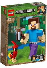 Lego Minecraft BigFig Series 1 Steve avec Perroquet 21148