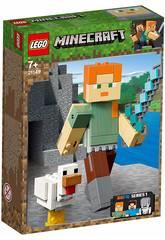 Lego Minecraft BigFig Series 1 Alex avec Poule 21149