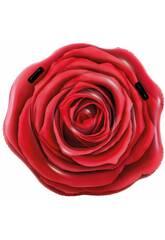 Colchonete Desenho Rosa Vermelha Realista 137x132 cm. Intex 58783