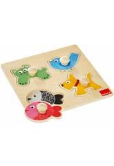 Puzzle Madera Goula Animales Domésticos Diset 53116