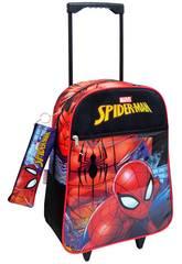 Rucksack Trolley Spiderman mit Mäppchen Toybags 56543