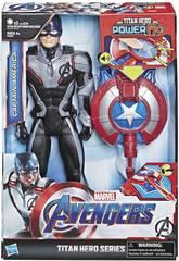 Avengers Figur Captain America 30 cm. mit Power FX Kanone Hasbro E3301