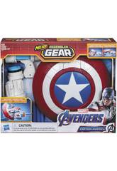 Avengers Nerf Assembler Gear Capitán América Monta y Lanza Hasbro E3347