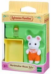 Sylvanian Families Bebé Ratón Marshmallow Epoch Para Imaginar 5336