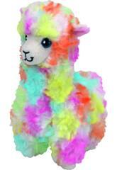 Peluche Llama Multicolor 20 cm. Lola TY 41217TY