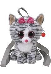 Mochila Fashion Gato Gris Kiki TY 95000TY