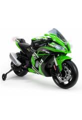 Moto Batería Kawasaki ZX10 Ninja 12V. con Luces y Sonidos Injusa 6495