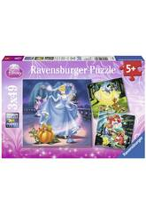Puzzle Princesses Disney 3x49 Pièces Ravensburger 9339