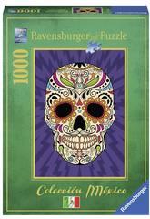 Puzzle Calavera Mexicana 1.000 Piezas Ravensburger 19686
