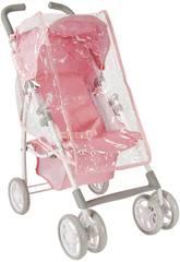 Puppenwagen mit Haube und Platik für Regen Elegance Arias 40724