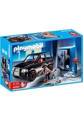 Playmobil Voleur de coffret-fort avec voiture