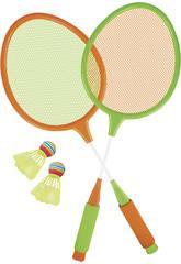 Set da Badminton 2 racchette 60x22.5 cm con 2 palle badminton