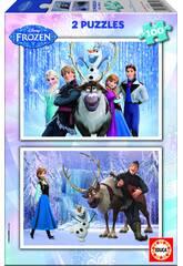 Puzzle 2X100 Disney Renne Frozen