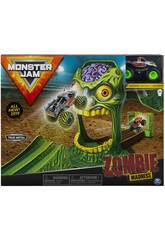 Monster Jam Playset Acrobacias Zombie Madness Bizak 61925873