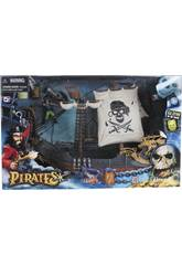 Barco Pirata com Figuras e Acessórios