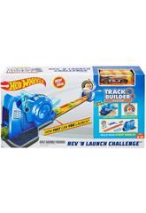 Hot Wheels Trackbuilder Lanzador Velocímetro Mattel FLL02