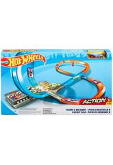 Hot Wheels Track Builder Pista En Forma De 8 Mattel GGF92
