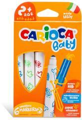 Baby Filzstifte mit 6 verschiedene Farben von Carioca 42813