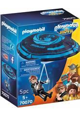 Playmobil The Movie Rex Dasher con Paracaidas 70070