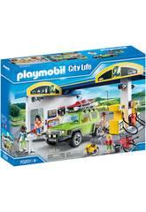Playmobil Vehiculos Ciudad Gasolinera 70201