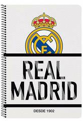 Notebook Copertina Rigida 80 f. Real Madrid Safta 511854066