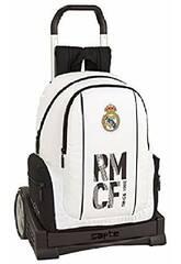 Mochila con Carro Evolution Real Madrid 1ª Equipación Safta 611854860
