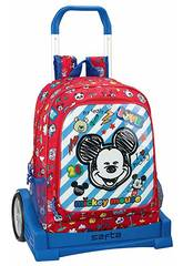Sac à Dos avec Chariot Evolution Mickey Mouse Maker Safta 611914860