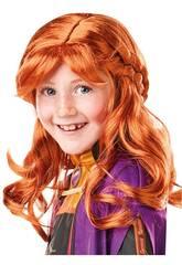 Frozen II Peluca Infantil Anna Rubies 300473
