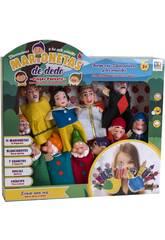Set 11 Marionette Dito Biancaneve e i 7 Nani