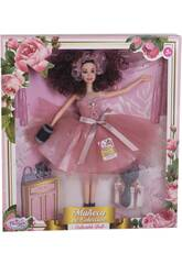 Bambola Maniquí Collezione 29 cm. Rosa Gonna Tulle con Accessori