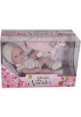 Bebé 25 cm. Ropa Ganchillo Rosa y Blanca